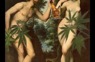Adam & Eve Stoner Marijuana Art Rubens Spoof – Weed Memes