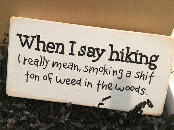 Hiking What Stoners Really Mean Funny Stoner 420 Humor Weed Memes