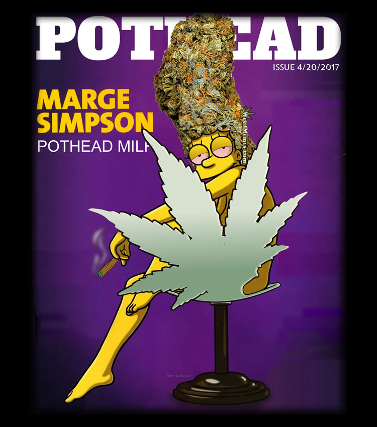 Marge Simpson Pothead Cartoon
