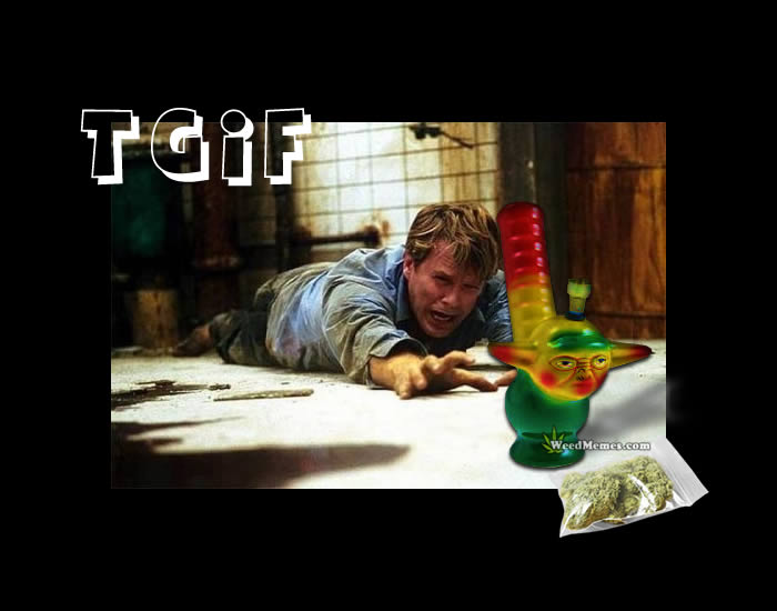 TGIF Funny Weed Memes – Saw Movie Meme Stoner Humor