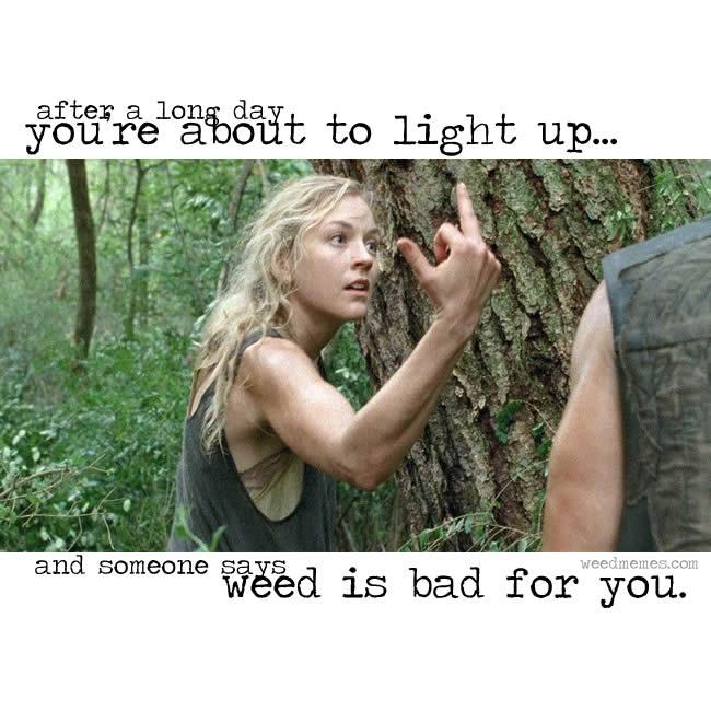 Walking Dead Weed Bad Memes