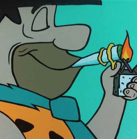 Fred Flintstone Stoner Weed Memes
