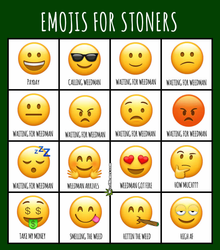 Emojis For Stoners and Potheads Weed Memes - Weed Memes