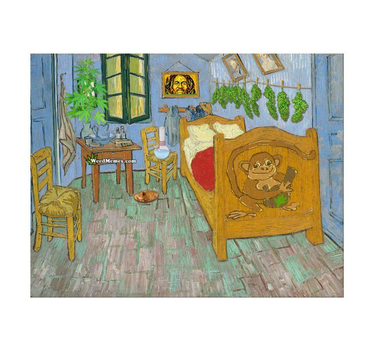 Smoking & Growing Weed Bedroom In Arles Van Gogh Painting ...