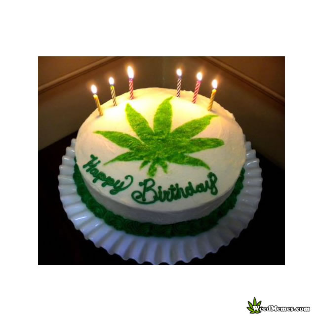 Happy Birthday Weed Cake