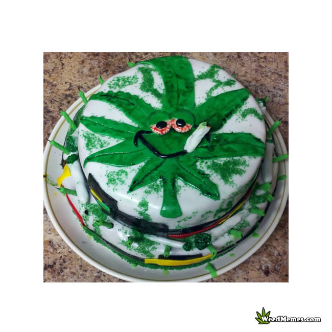weed birthday cake stoned leaf smoking joint weed memes