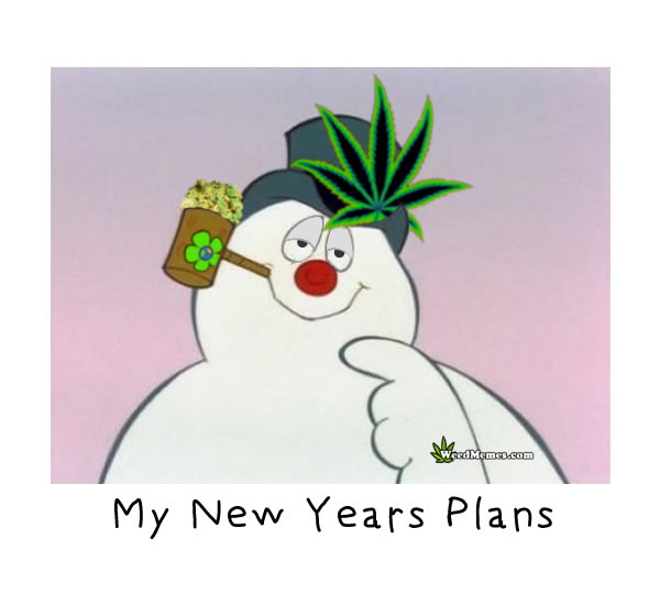 Stoned Frosty Snowman Happy New Years Plans Smoke Weed Memes - Weed ...