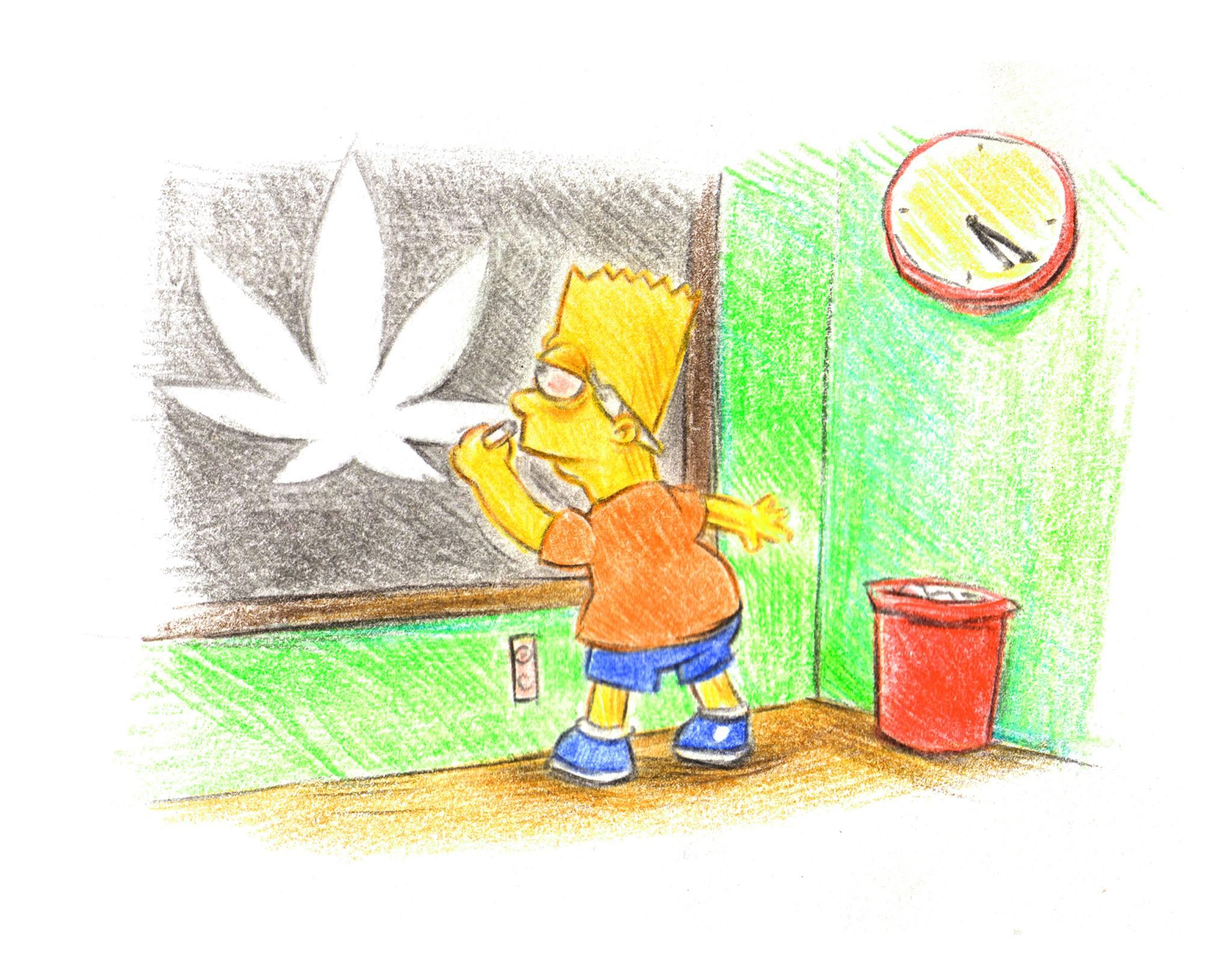 Bart Simpson Marijuana Leaf Meme Weed Memes