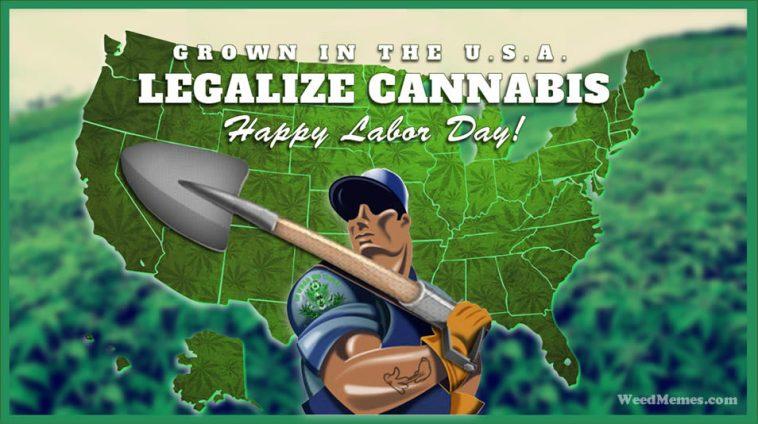 Happy Labor Day Pot Farmer Weed Memes - Weed Memes