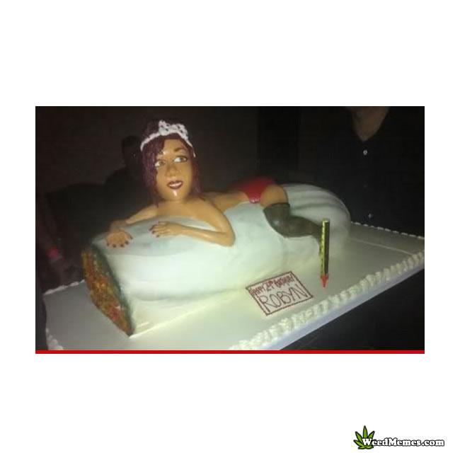 Pleasing Weed Birthday Cake Rihanna Weed Memes Funny Birthday Cards Online Fluifree Goldxyz